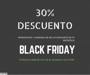 Black Friday: descuento del 30% en todos nuestros cursos